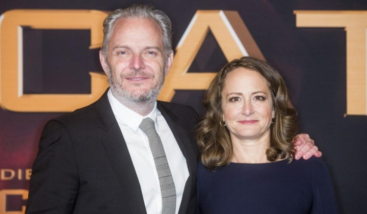 Francis Lawrence and Nina Jacobson at Catching Fire premiere
