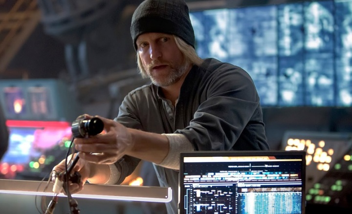 Woody Harrelson as Haymitch Abernathy in Mockingjay Part 1