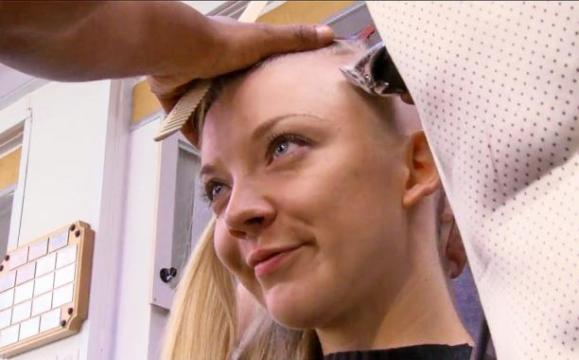 natalie dormer gets her head shaved for mockingjay