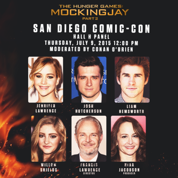 SDCC 2016 The Hunger Games Cast attendees