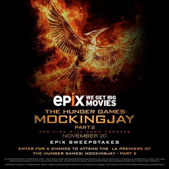 EPIX Mockingjay Part 2 Contest