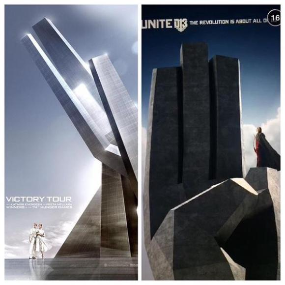 mockingjay statue similarity