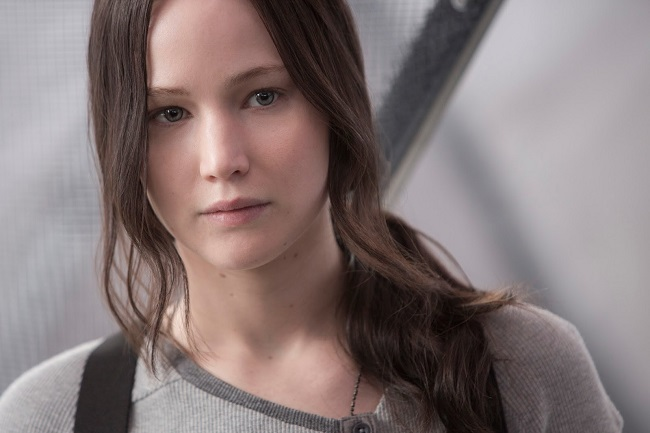 Jennifer Lawrence as Katniss Everdeen in Mockingjay Part 2