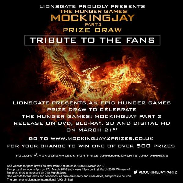 Lionsgate UK Mega The Hunger Games Prize Draw