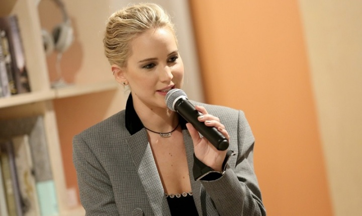 Jennifer Lawrence at 20th Century Fox x The Wing​ event​ 2018